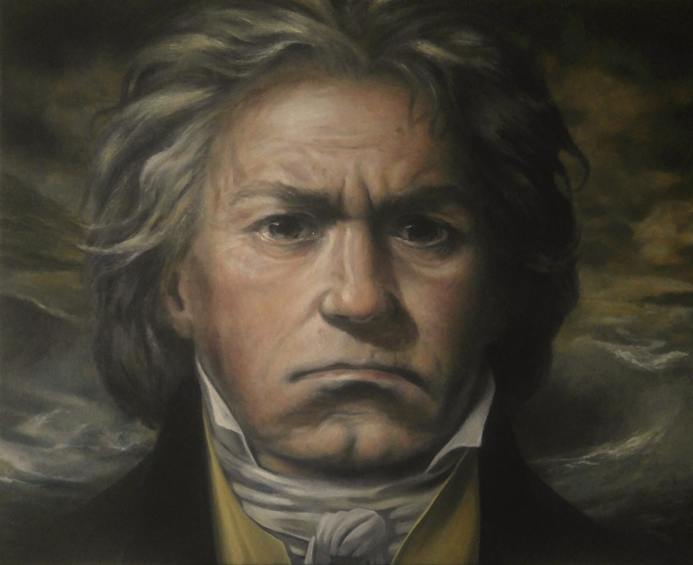 Portrait of Ludwig van Beethoven by Stefan Blöndal